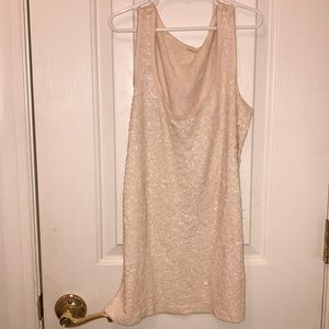J Crew Ivory Sequence Tank Top